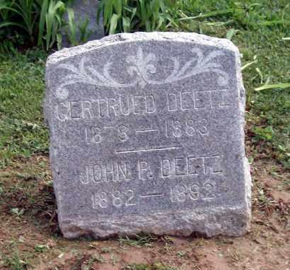 DEETZ, GERTRUED - Holmes County, Ohio | GERTRUED DEETZ - Ohio Gravestone Photos