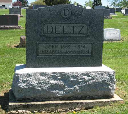 DEETZ, JOHN - Holmes County, Ohio | JOHN DEETZ - Ohio Gravestone Photos