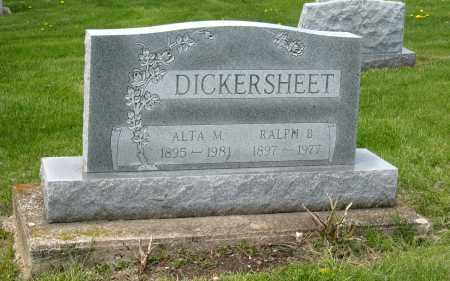 DICKERSHEET, RALPH B - Holmes County, Ohio   RALPH B DICKERSHEET - Ohio Gravestone Photos