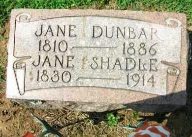 SHADLE, JANE - Holmes County, Ohio   JANE SHADLE - Ohio Gravestone Photos