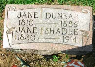 DUNBAR, JANE - Holmes County, Ohio | JANE DUNBAR - Ohio Gravestone Photos