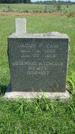 HITCHCOCK FAIR, JOSEPHINE - Holmes County, Ohio | JOSEPHINE HITCHCOCK FAIR - Ohio Gravestone Photos