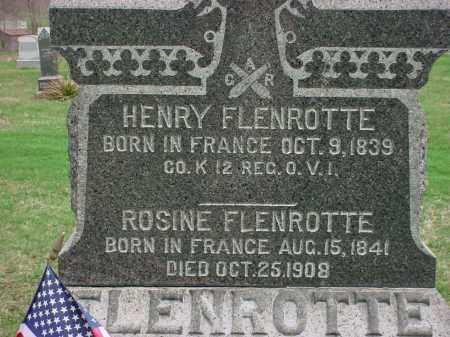 FLENROTTE, HENRY - Holmes County, Ohio   HENRY FLENROTTE - Ohio Gravestone Photos