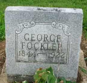 FOCKLER, GEORGE - Holmes County, Ohio | GEORGE FOCKLER - Ohio Gravestone Photos