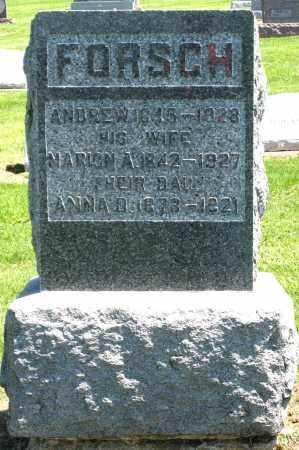 FORSCH, ANDREW - Holmes County, Ohio | ANDREW FORSCH - Ohio Gravestone Photos