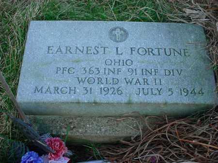 FORTUNE, EARNEST L - Holmes County, Ohio | EARNEST L FORTUNE - Ohio Gravestone Photos