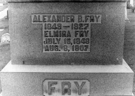 FRY, ELMIRA - Holmes County, Ohio | ELMIRA FRY - Ohio Gravestone Photos