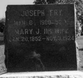 CHAMPAN FRY, MARY J - Holmes County, Ohio   MARY J CHAMPAN FRY - Ohio Gravestone Photos