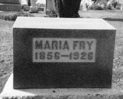 FRY, MARIA - Holmes County, Ohio | MARIA FRY - Ohio Gravestone Photos