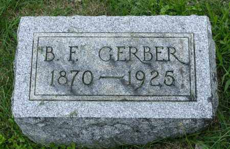 GERBER, BENJAMIN F. - Holmes County, Ohio   BENJAMIN F. GERBER - Ohio Gravestone Photos