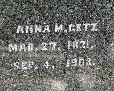 GETZ, ANNA M - Holmes County, Ohio | ANNA M GETZ - Ohio Gravestone Photos