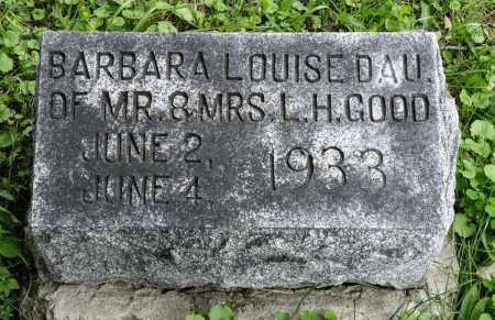 GOOD, BARBARA LOUISE - Holmes County, Ohio | BARBARA LOUISE GOOD - Ohio Gravestone Photos