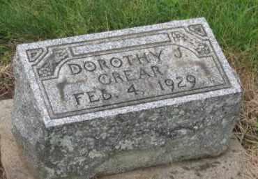 GREAR, DOROTHY J. - Holmes County, Ohio | DOROTHY J. GREAR - Ohio Gravestone Photos