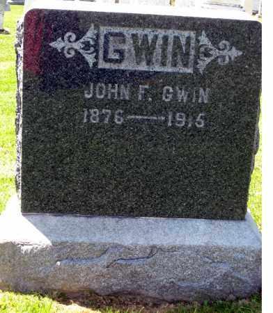 GWIN, JOHN F. - Holmes County, Ohio   JOHN F. GWIN - Ohio Gravestone Photos