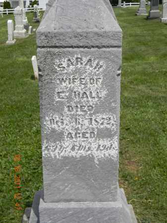 HALL, SARAH - Holmes County, Ohio | SARAH HALL - Ohio Gravestone Photos