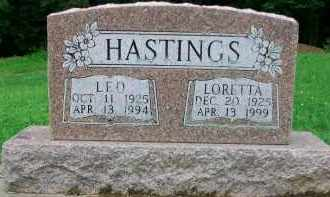 HASTINGS, LORETTA - Holmes County, Ohio | LORETTA HASTINGS - Ohio Gravestone Photos