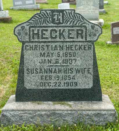 HECKER, SUSANNAH - Holmes County, Ohio | SUSANNAH HECKER - Ohio Gravestone Photos