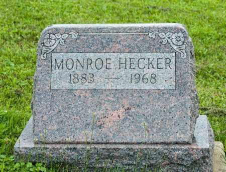HECKER, MONROE - Holmes County, Ohio   MONROE HECKER - Ohio Gravestone Photos