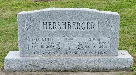 MILLER HERSHBERGER, ESTA - Holmes County, Ohio | ESTA MILLER HERSHBERGER - Ohio Gravestone Photos