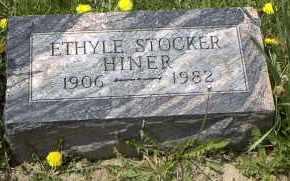 STOCKER HINER, ETHYLE P. - Holmes County, Ohio | ETHYLE P. STOCKER HINER - Ohio Gravestone Photos