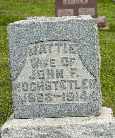 HOCHSTETLER, MATTIE - Holmes County, Ohio | MATTIE HOCHSTETLER - Ohio Gravestone Photos