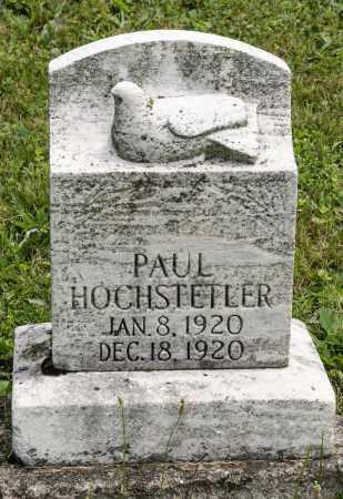 HOCHSTETLER, PAUL - Holmes County, Ohio | PAUL HOCHSTETLER - Ohio Gravestone Photos