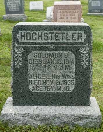 HOCHSTETLER, SOLOMON B. - Holmes County, Ohio | SOLOMON B. HOCHSTETLER - Ohio Gravestone Photos