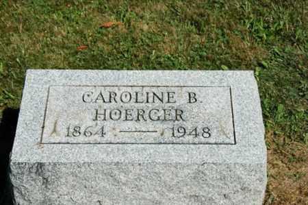 HOERGER, CAROLINE B. - Holmes County, Ohio | CAROLINE B. HOERGER - Ohio Gravestone Photos