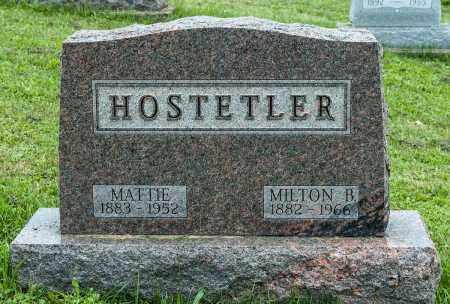 HOSTETLER, MILTON B. - Holmes County, Ohio | MILTON B. HOSTETLER - Ohio Gravestone Photos