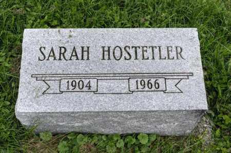 HOSTETLER, SARAH - Holmes County, Ohio | SARAH HOSTETLER - Ohio Gravestone Photos