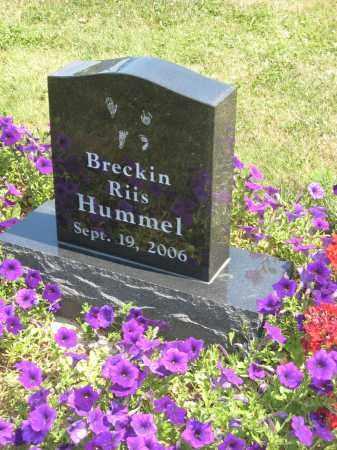 RIIS HUMMEL, BRECKIN - Holmes County, Ohio | BRECKIN RIIS HUMMEL - Ohio Gravestone Photos