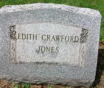 JONES, EDITH - Holmes County, Ohio   EDITH JONES - Ohio Gravestone Photos