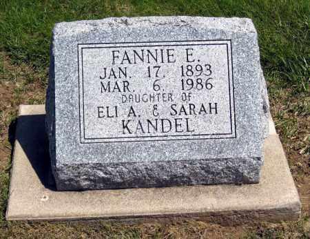 KANDEL, FANNIE E - Holmes County, Ohio | FANNIE E KANDEL - Ohio Gravestone Photos