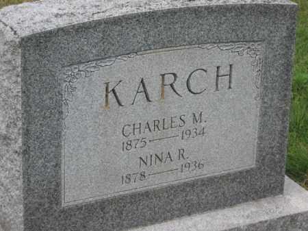 KARCH, CHARLES M. - Holmes County, Ohio | CHARLES M. KARCH - Ohio Gravestone Photos