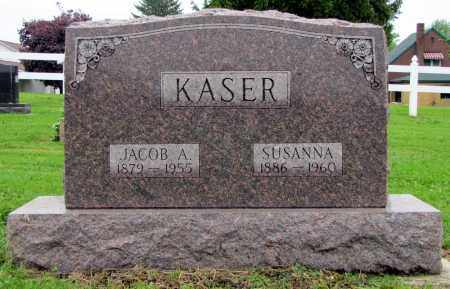 KASER, SUSANNA - Holmes County, Ohio   SUSANNA KASER - Ohio Gravestone Photos
