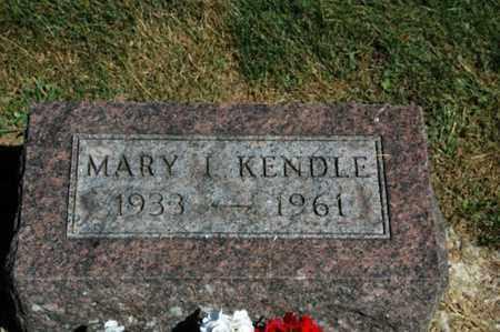 KENDLE, MARY I. - Holmes County, Ohio   MARY I. KENDLE - Ohio Gravestone Photos