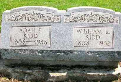 KIDD, ADAH F. - Holmes County, Ohio   ADAH F. KIDD - Ohio Gravestone Photos