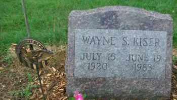 KISER, WAYNE S. - Holmes County, Ohio | WAYNE S. KISER - Ohio Gravestone Photos