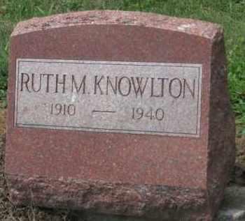 KNOWLTON, RUTH M. - Holmes County, Ohio | RUTH M. KNOWLTON - Ohio Gravestone Photos
