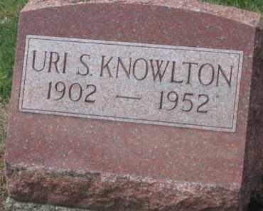 KNOWLTON, URI S. - Holmes County, Ohio | URI S. KNOWLTON - Ohio Gravestone Photos