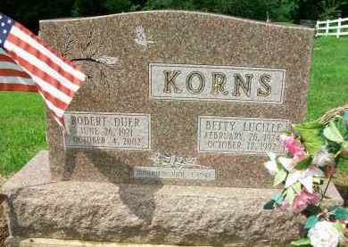 KORNS, BETTY LUCILLE - Holmes County, Ohio | BETTY LUCILLE KORNS - Ohio Gravestone Photos