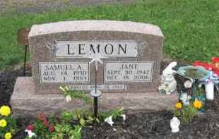LEMON, SAMUEL A. - Holmes County, Ohio | SAMUEL A. LEMON - Ohio Gravestone Photos