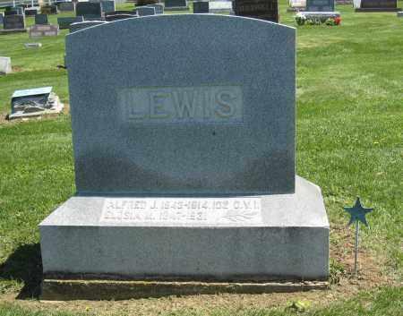 LEWIS MONUMENT, ALFRED - Holmes County, Ohio | ALFRED LEWIS MONUMENT - Ohio Gravestone Photos