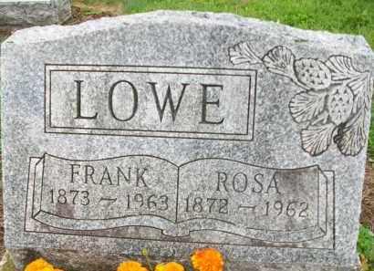 LOWE, FRANK  B. - Holmes County, Ohio | FRANK  B. LOWE - Ohio Gravestone Photos