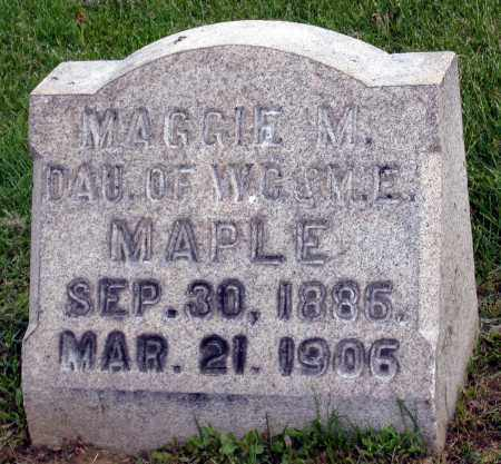 MAPLE, MAGGIE M. - Holmes County, Ohio | MAGGIE M. MAPLE - Ohio Gravestone Photos