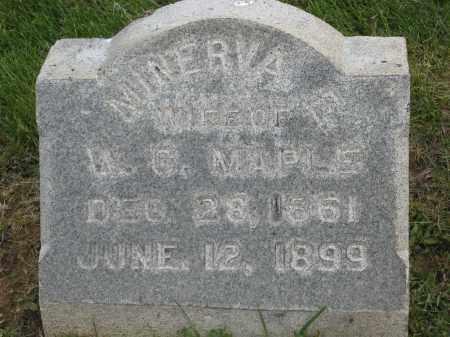 MAPLE, MINERVA E. - Holmes County, Ohio | MINERVA E. MAPLE - Ohio Gravestone Photos