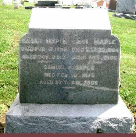 MAPLE, SARAH - Holmes County, Ohio | SARAH MAPLE - Ohio Gravestone Photos