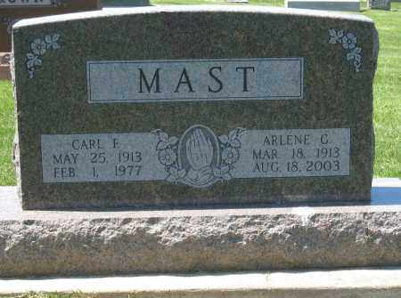MAST, CARL F - Holmes County, Ohio   CARL F MAST - Ohio Gravestone Photos