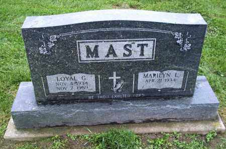 MAST, MARILYN L. - Holmes County, Ohio   MARILYN L. MAST - Ohio Gravestone Photos
