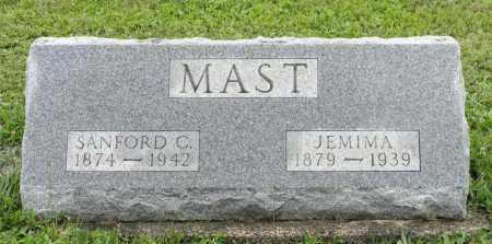 MAST, JEMIMA - Holmes County, Ohio   JEMIMA MAST - Ohio Gravestone Photos